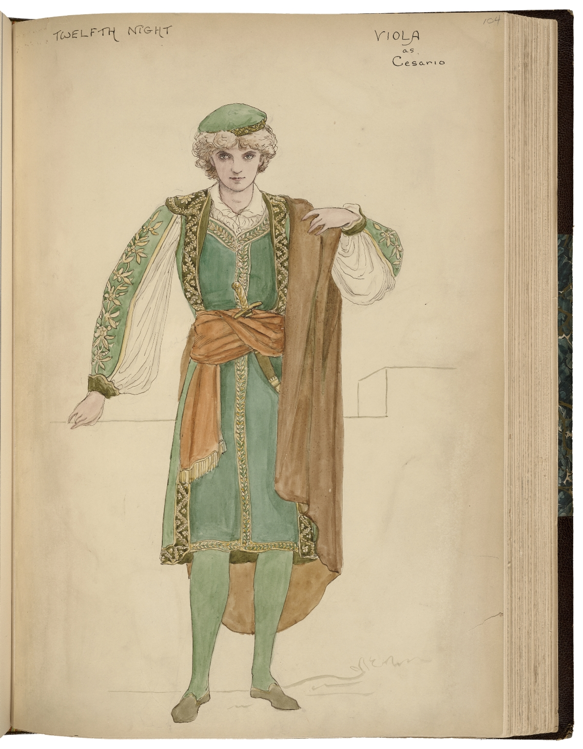 Costume designs for Daly's production of Twelfth night [graphic] / [Graham Roberston].