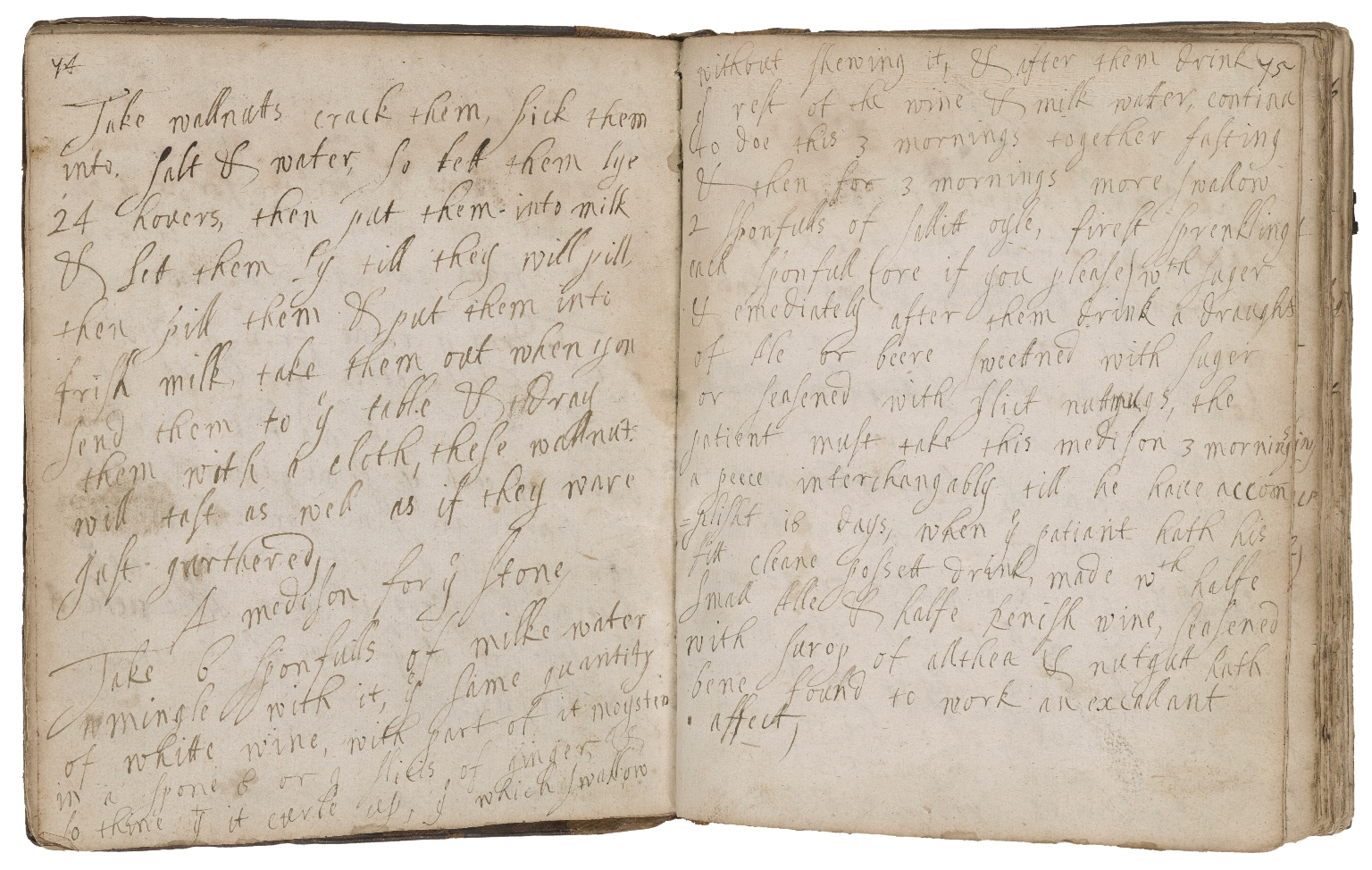 The Lady Grace Castleton's booke of receipts [manuscript].