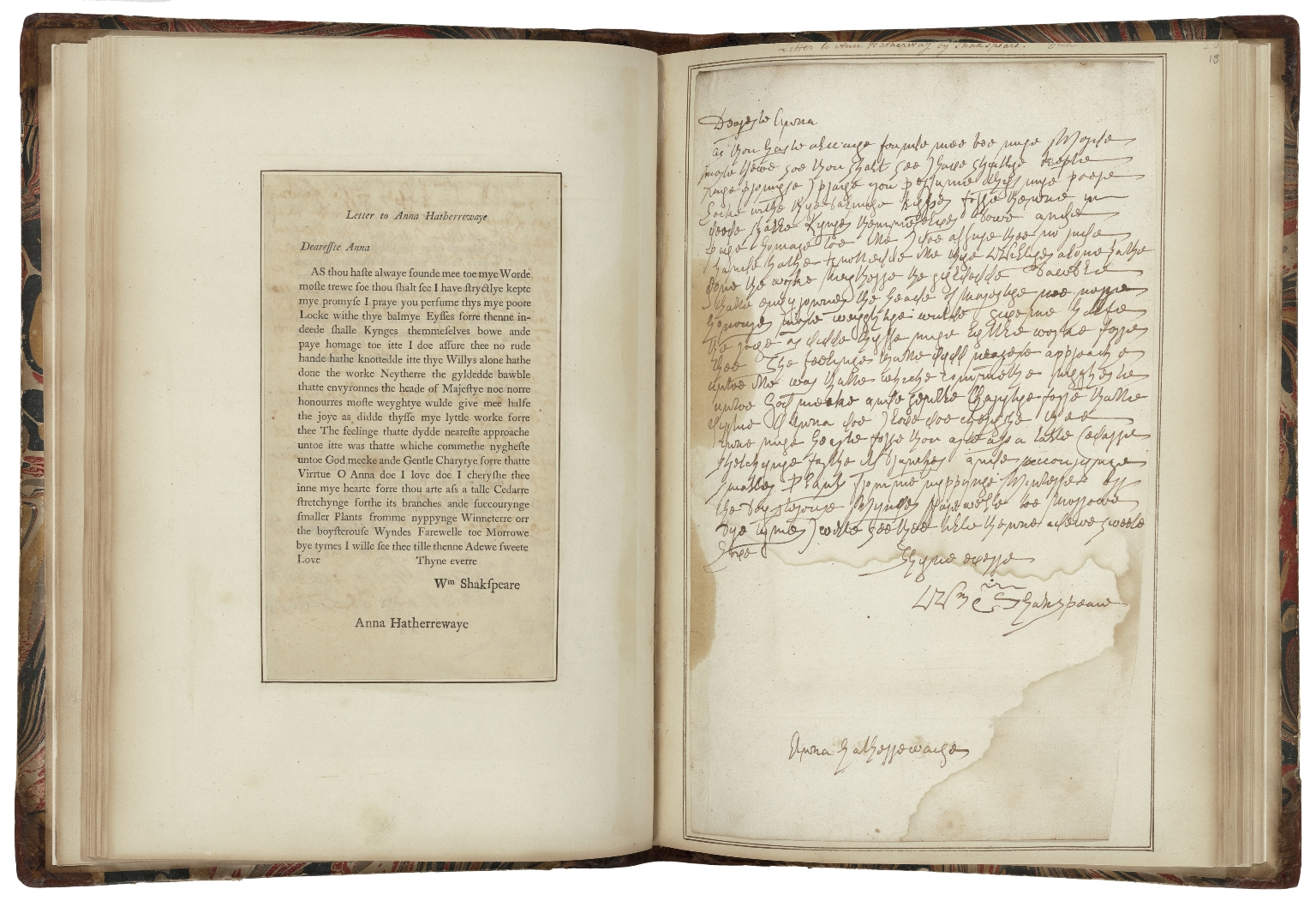 Forgeries by William Henry Ireland of Shakespeare documents, or manuscript copies of the forgeries and other manuscripts [manuscript]