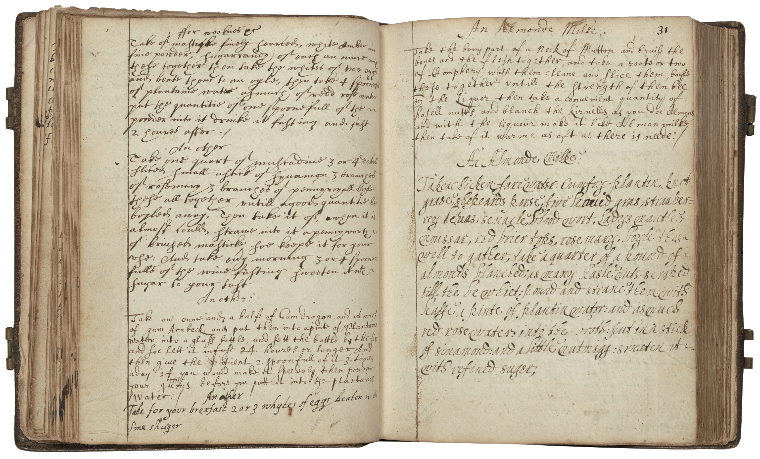 A book of receipts which was given me by several men for several causes, griefs and diseases . . . [manuscript].