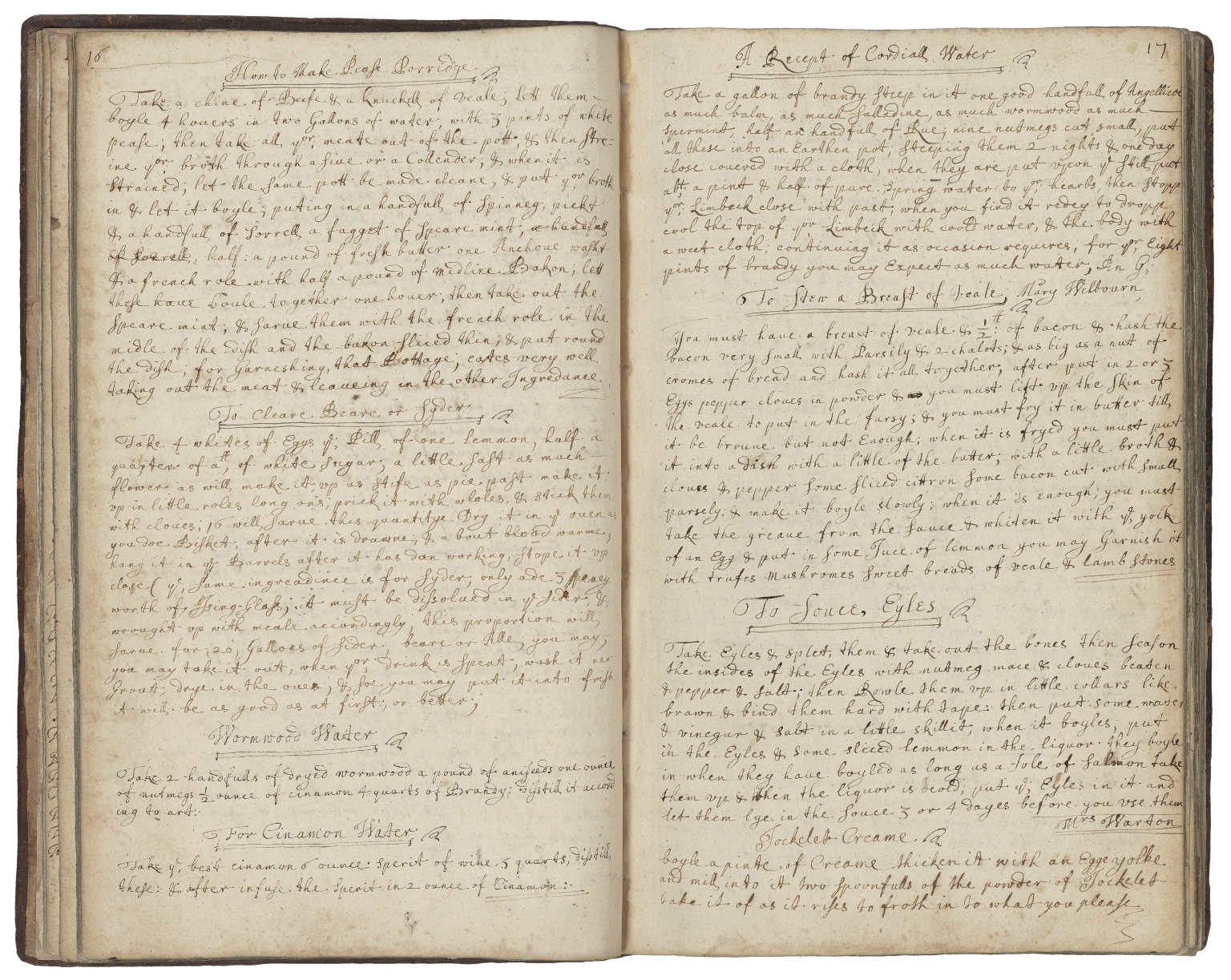 Cookbook of Jane Dawson [manuscript].