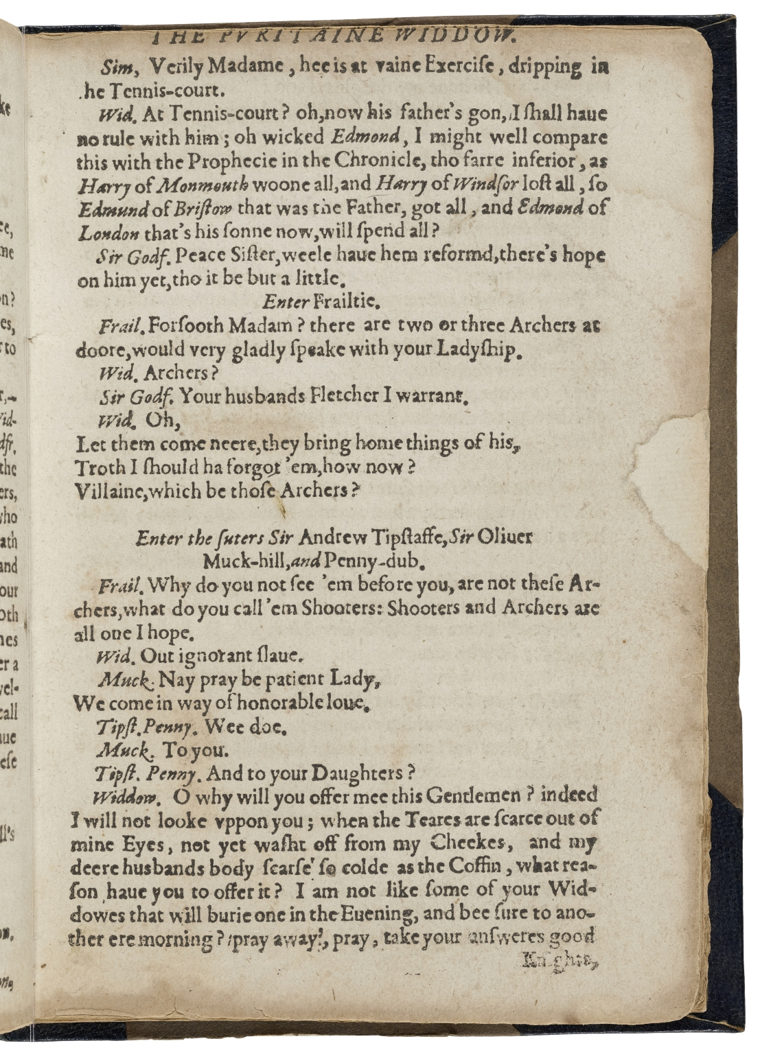 [Puritan] The puritaine or The vviddovv of VVatling-streete. Acted by the Children of Paules. Written by W.S.