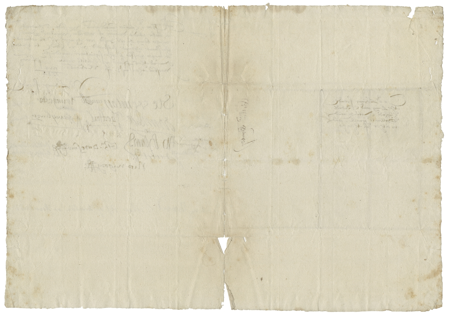 Letter signed from the Privy Council, Westminster, to the King and Queen's Attorney and Sollicitor General