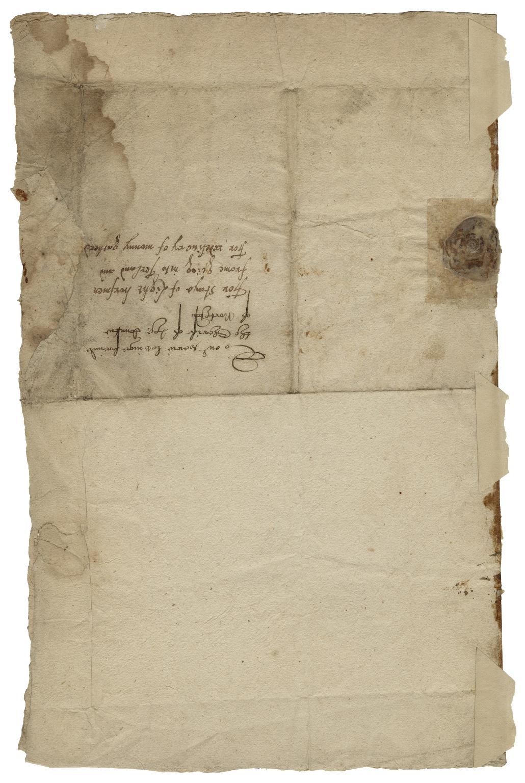 Letter signed from the Privy Council, Hampton House, to the Sherriff of Northamptonshire
