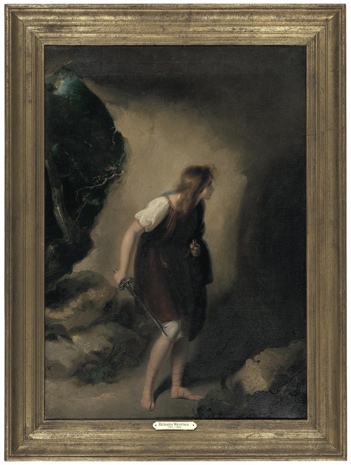 Imogen Entering the Cave of Belarius, (Cymbeline, Act III, Scene VI) [graphic].