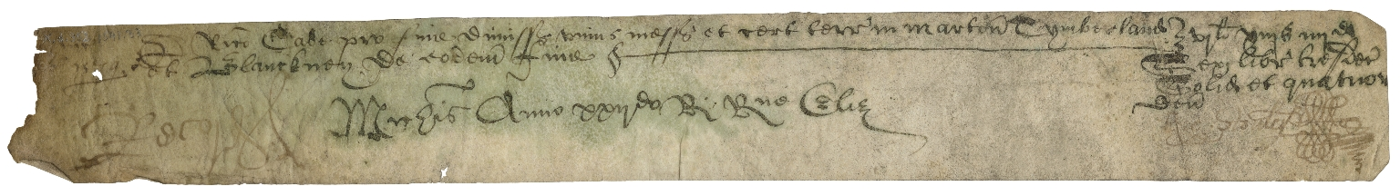 Miscellaneous receipts of the Court of Exchequer
