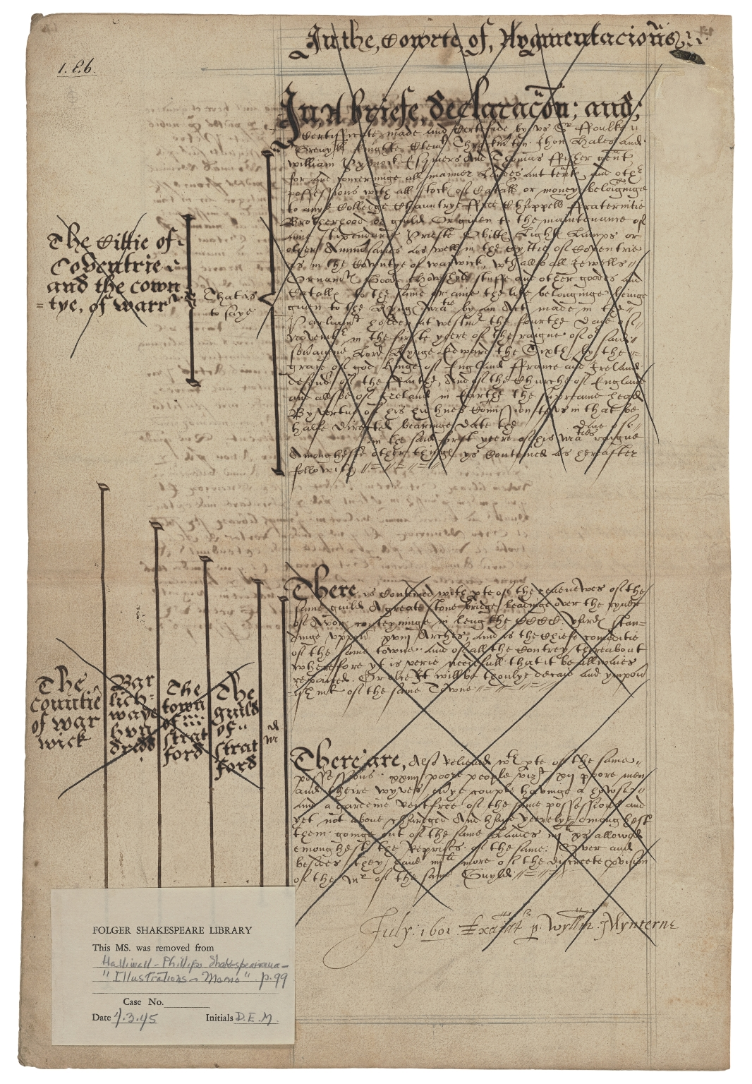Copy of Letters patent from Elizabeth I, Queen of England, to Peter Grevill and Peter Rosewell
