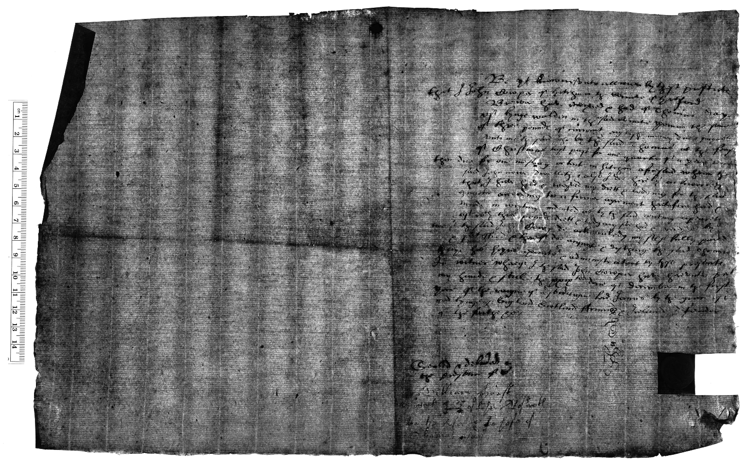 Acquittance from John Cowper, brewer of Hitchin, Hertfordshire, to Thomas Day of King's Walden, Hertfordshire