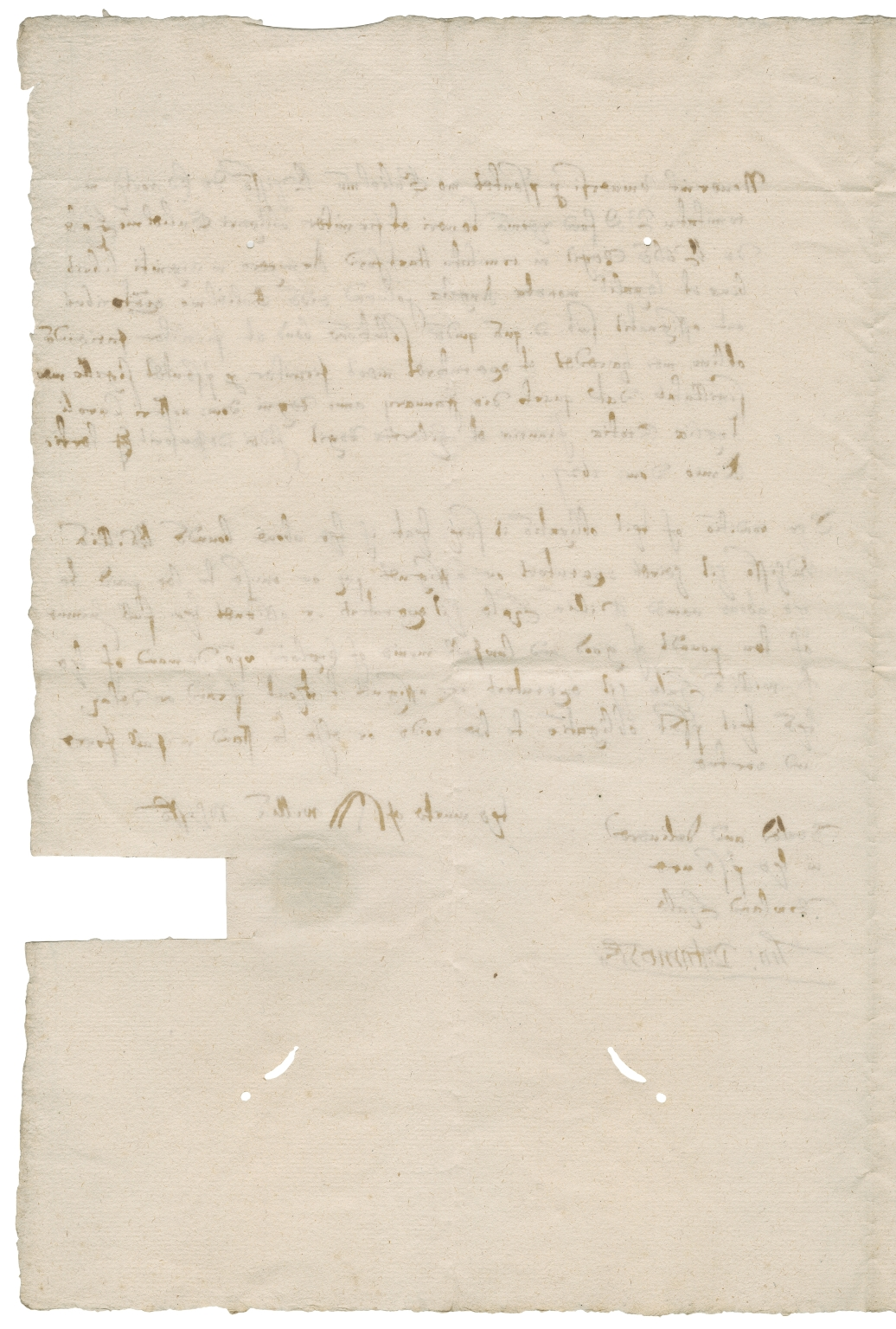Bond from William Whisson of Edworth, Bedfordshire, to William Hale of King's Walden