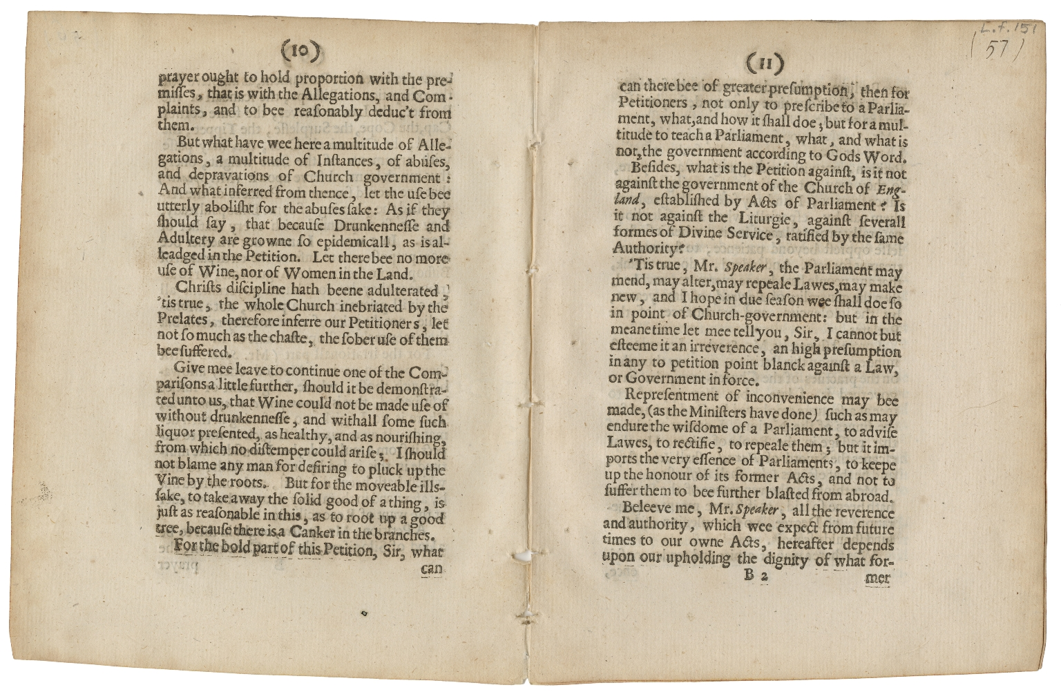 Bristol, George Digby, Earl of, 1612-1677. The third speech of the Lord George Digby to the House of Commons, concerning bishops, and the citie petition, the 9th of Febr. 1640 1640 [i.e. 1641]