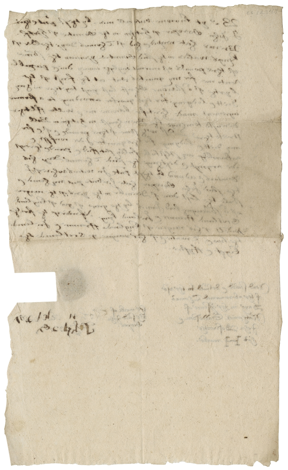 Acquittance from John Cooper, brewer of Hitchin, Hertfordshire, to Thomas Day the elder of King's Walden, Hertfordshire