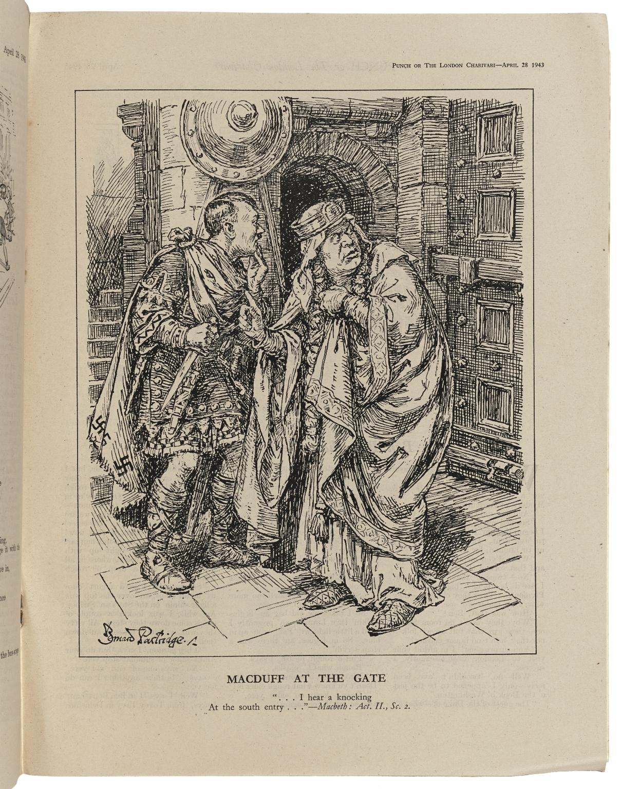 Macduff at the gate [graphic]