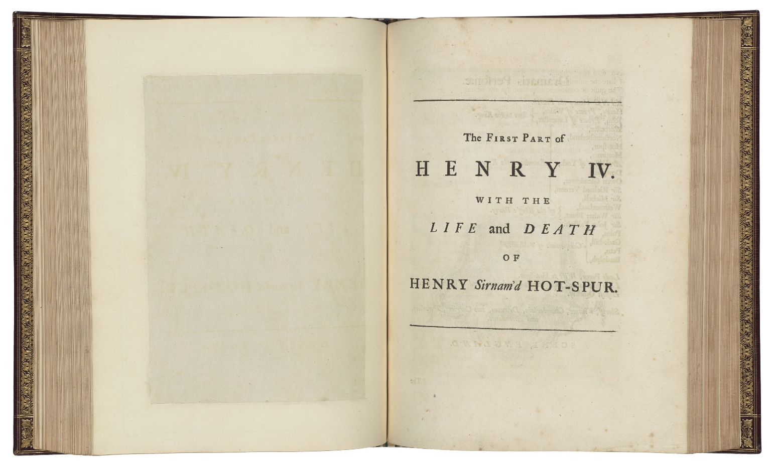 [Plays. 1743] The works of Shakespear : in six volumes : carefully revised and corrected by the former editions, and adorned with sculptures designed and executed by the best hands.