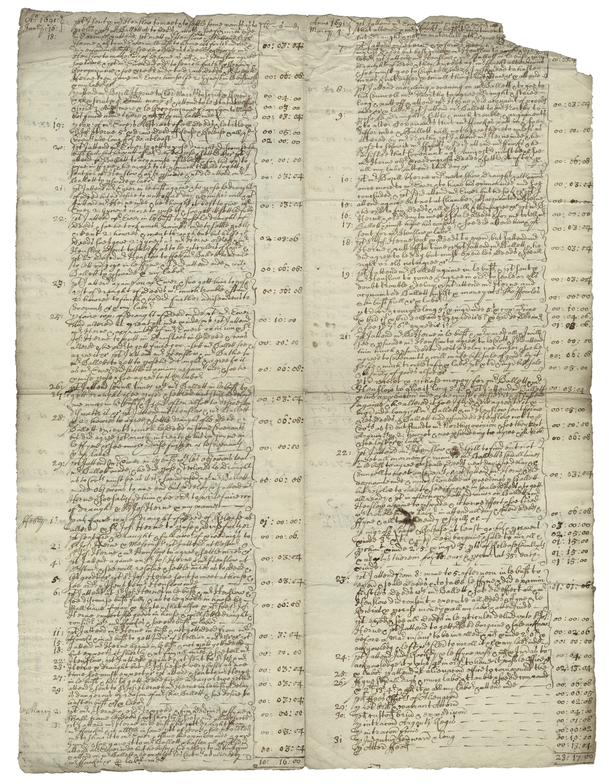 Receipted bill from Edward Hobart to Sir Joseph Herne