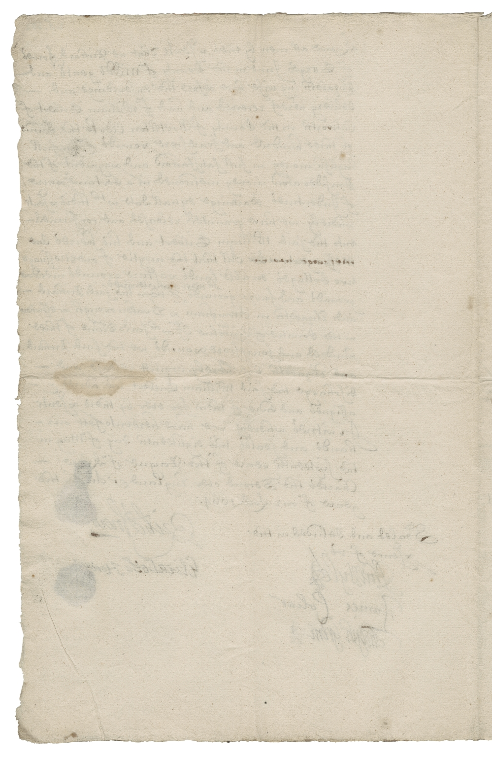 Acquittance from Richard Howes of Gray's Inn, Middlesex, and Elizabeth Howes to William Gilbert of Culworth, Northamptonshire