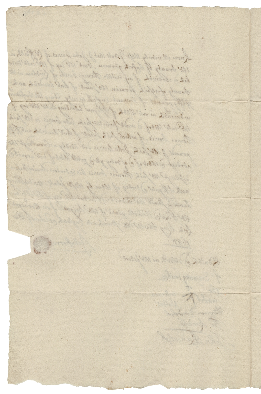 Acquittance from John Harris of Leafield, Oxfordshire, to Thomas Harris of Lindham, Oxfordshire