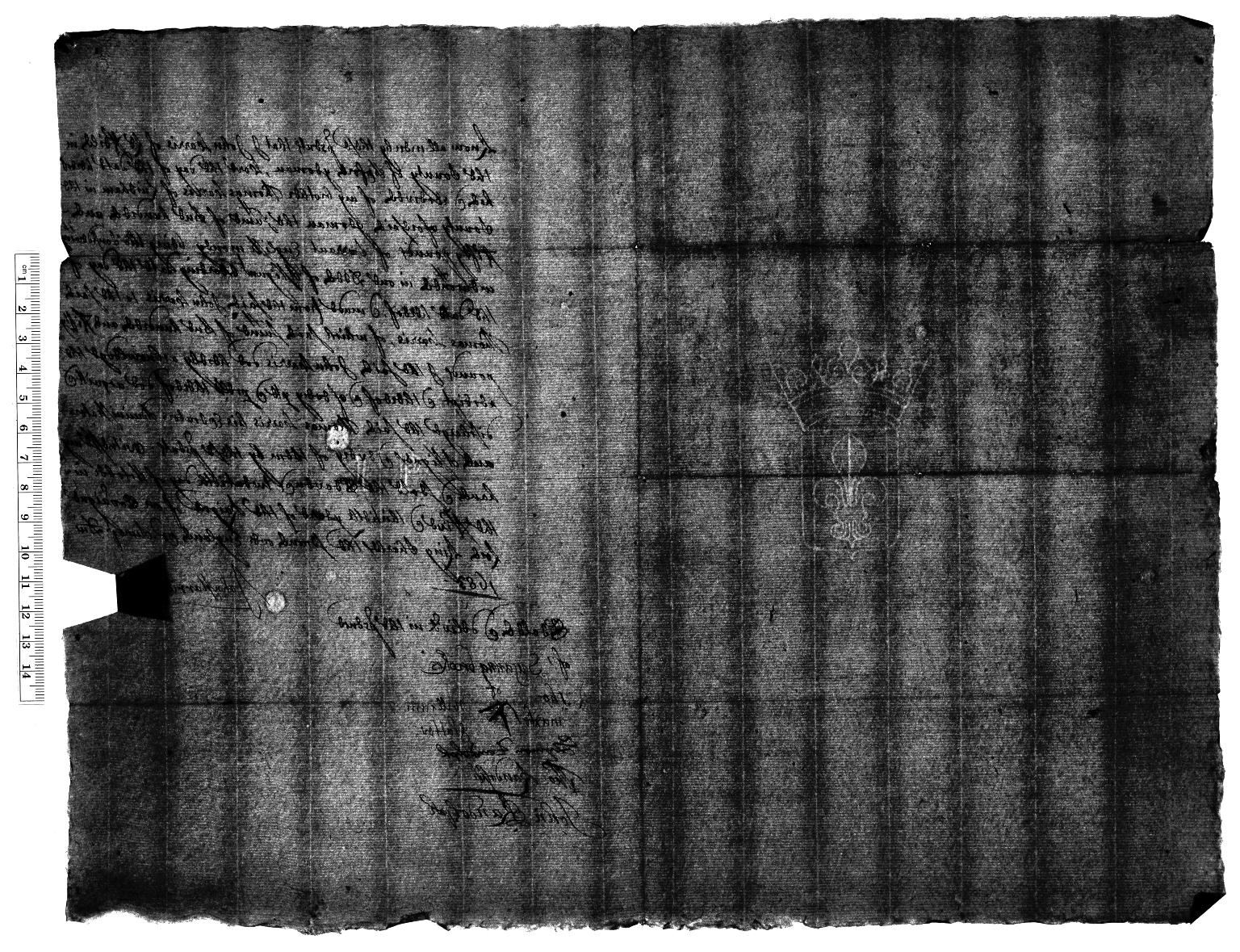 Acquittance from John Harris of Leafield, Oxfordshire, to Thomas Harris of Lindham, Oxfordshire