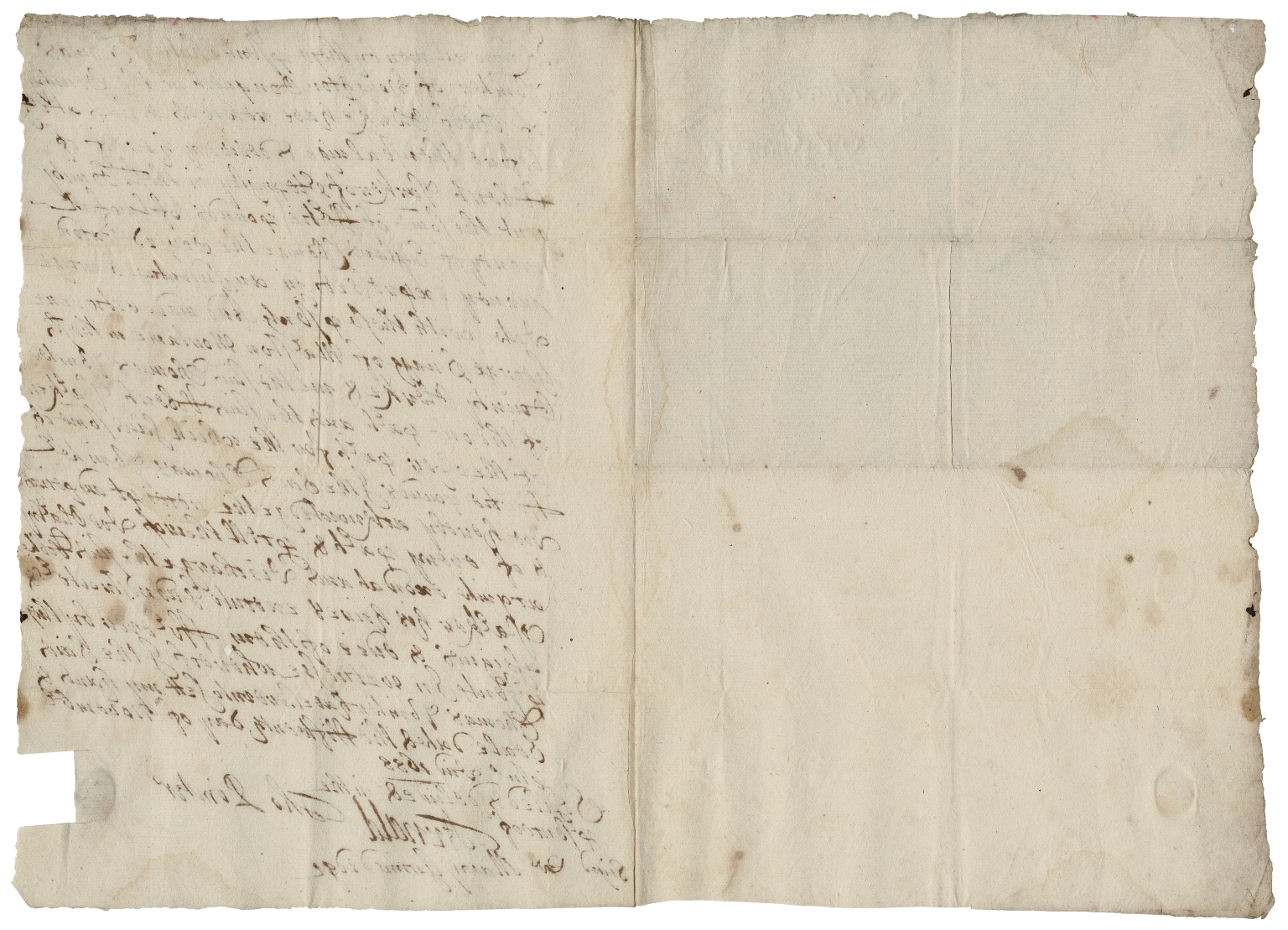 Acquittance from Thomas Pointer of Houghton Conquest, Bedfordshire, to Robert Park of Steppingley, Bedfordshire