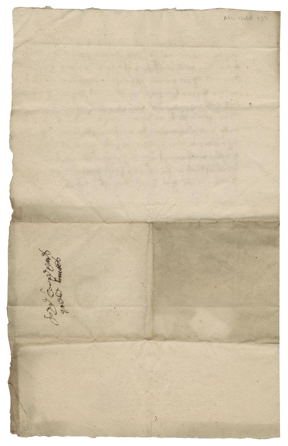 Acquittance from John Cooper, brewer of Hitchin, Hertfordshire to William Fletcher, brewer of Hitchin, Hertfordshire
