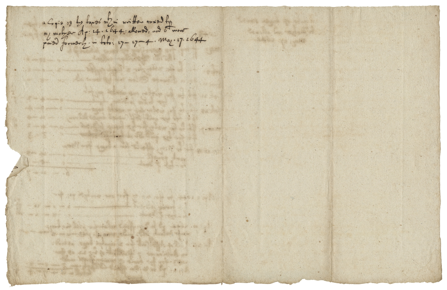 Account of taxes laid out for Rose Hale