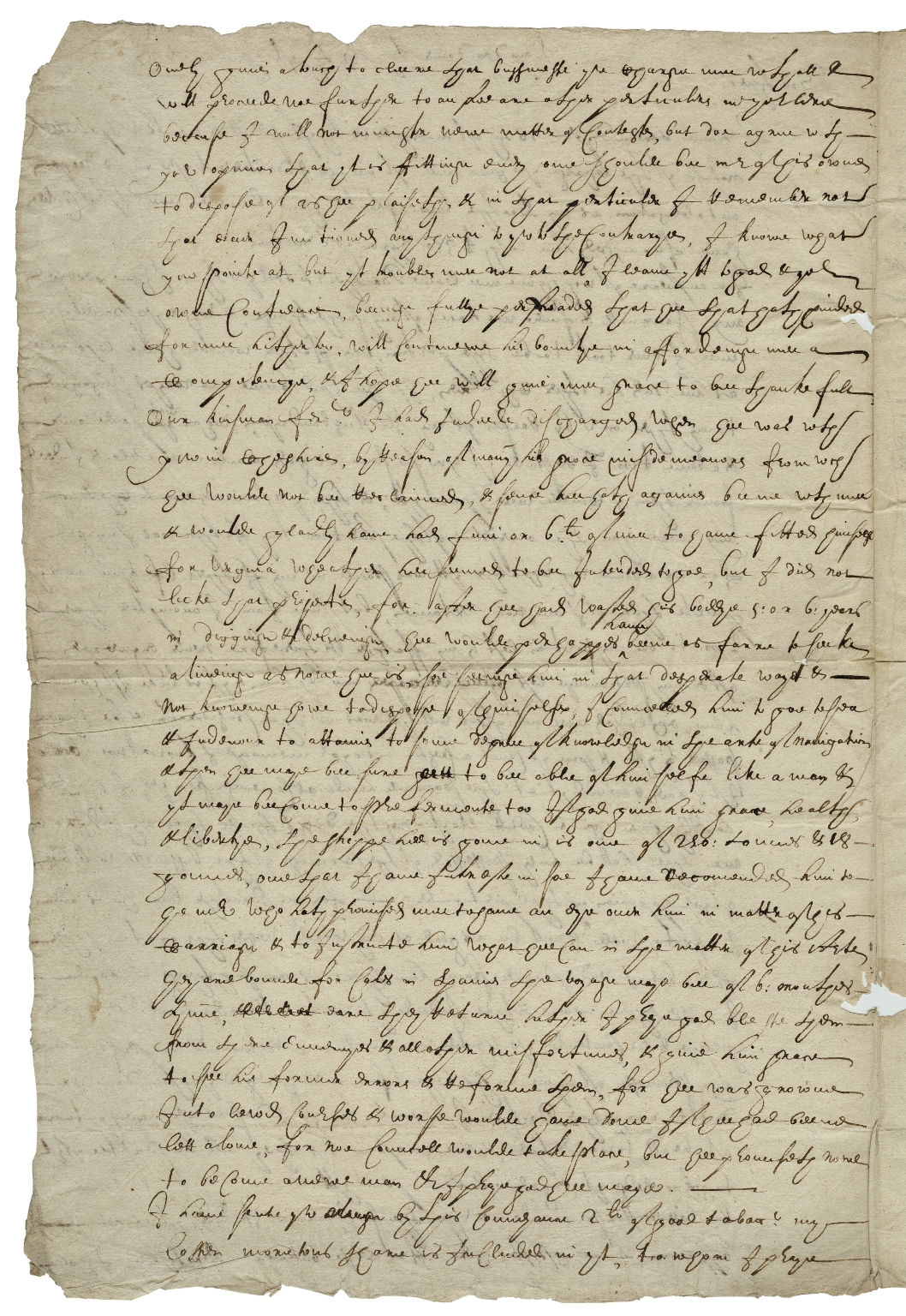 Autograph letters signed from Henry Booth, Dover, to his brother, John Booth, at Moreton in Cheshire