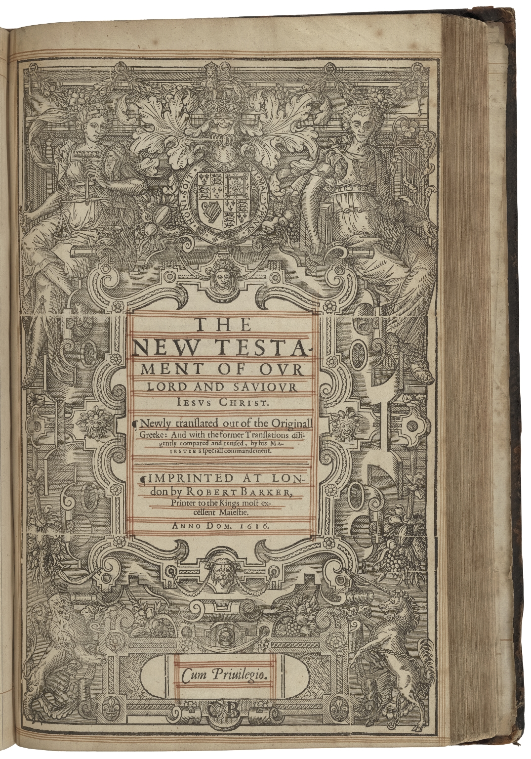 The Holy Bible, containing the Old Testament, and the New: newly translated out of the original tongues: and with the former translations diligently compared and reuised, by his Maiesties speciall commandement.