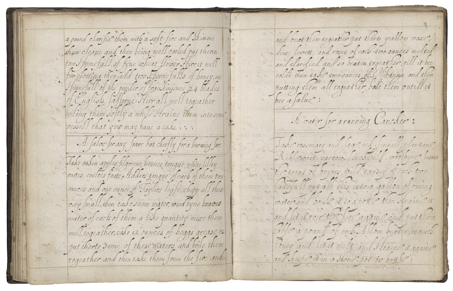 Medicinal and cookery recipes [manuscript].