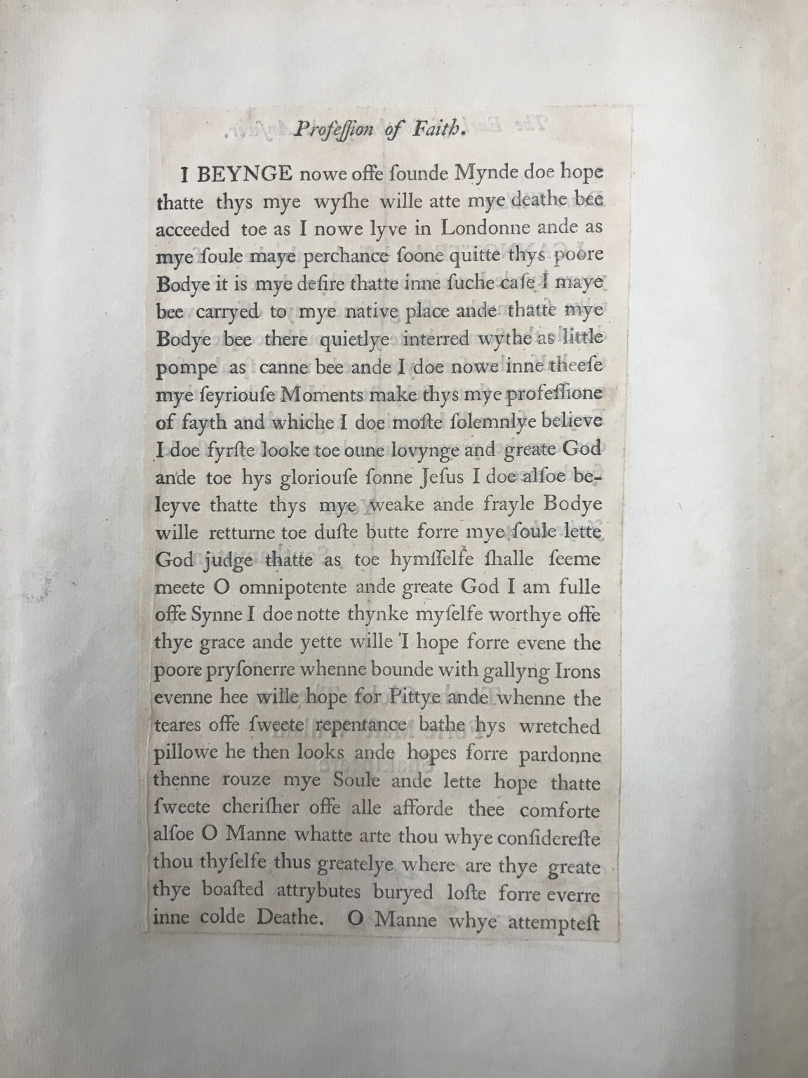Forgeries by William Henry Ireland of documents pretended to be in Shakespeare's hand [manuscript], ca. 1800.