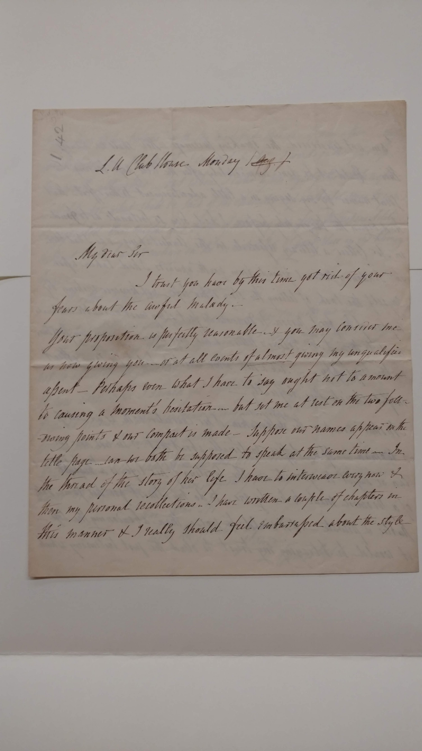 Autograph letters signed from Thomas Campbell to J.P. Collier [manuscript], 1832-1840.