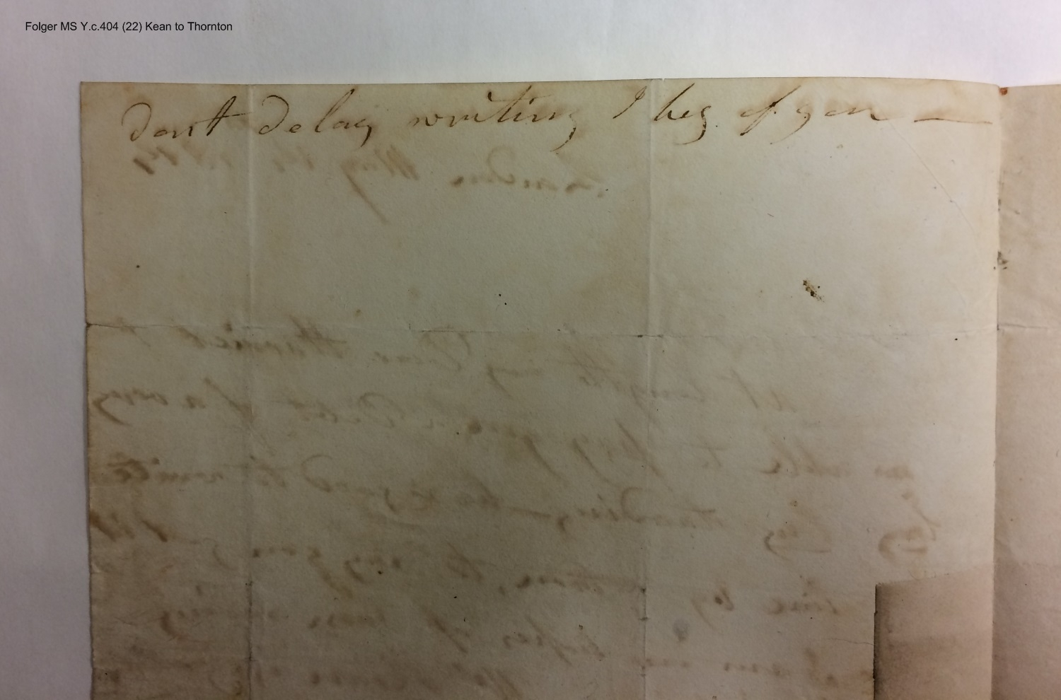 Autograph letters signed from Mary (Chambers) Kean to various recipients [manuscript], 1814-1842.