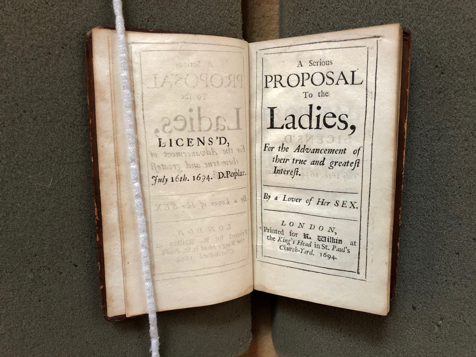 A serious proposal to the ladies, for the advancement of their true and greatest interest. By a lover of her sex.