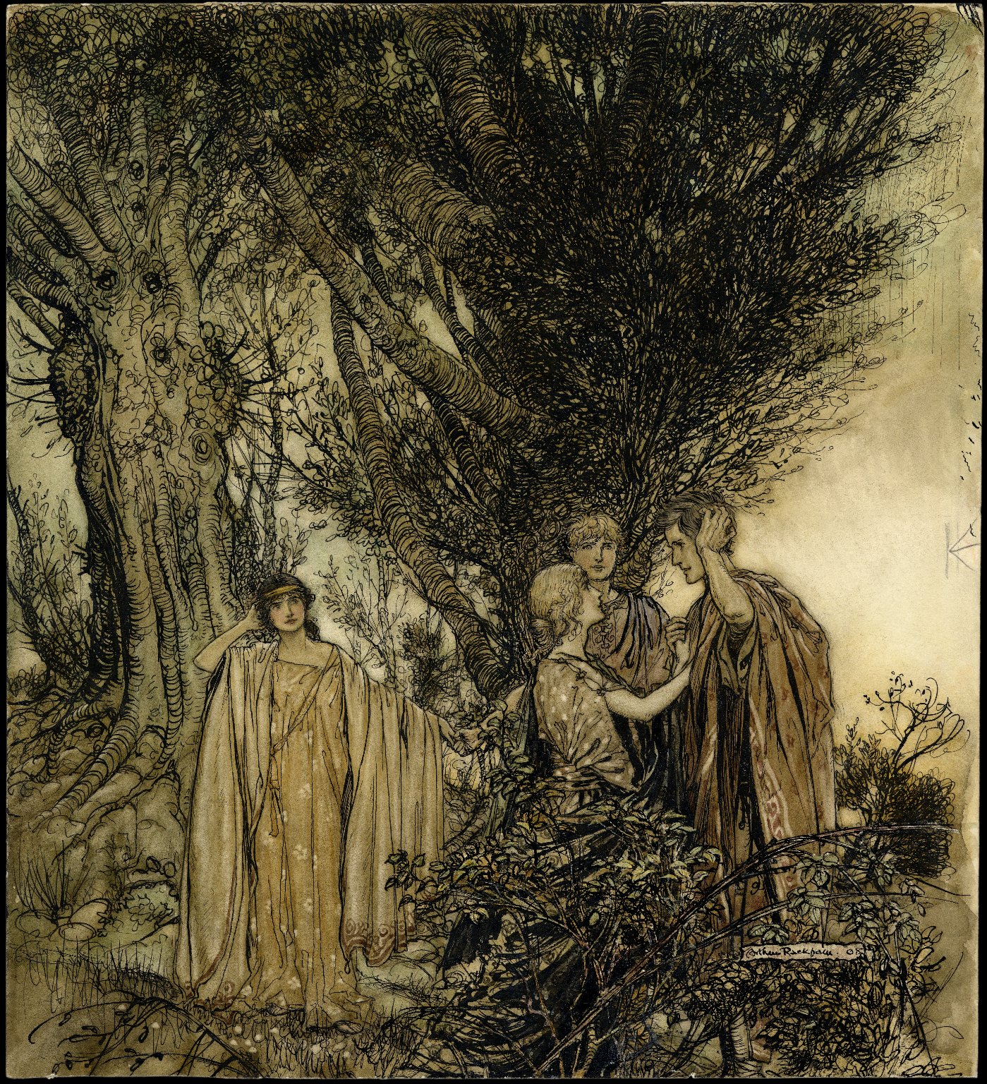 Are you sure that we are awake? [graphic] / Arthur Rackham, '08.